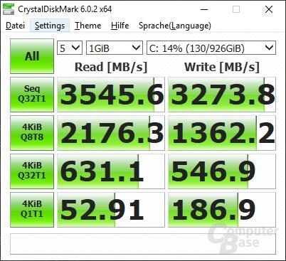 Die Samsung 970 Evo Plus ist sehr schnell