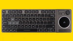 Corsair K83: Erste Wohnzimmer-Tastatur spielt mit Joystick