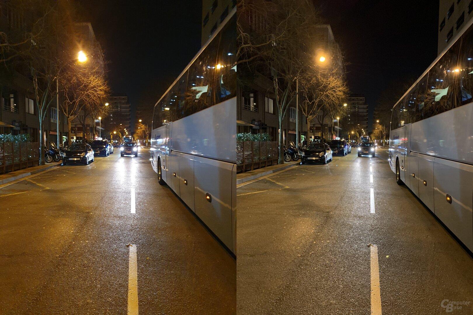 Samsung Galaxy S10+ (l.) vs. Apple iPhone Xs Max (r.)