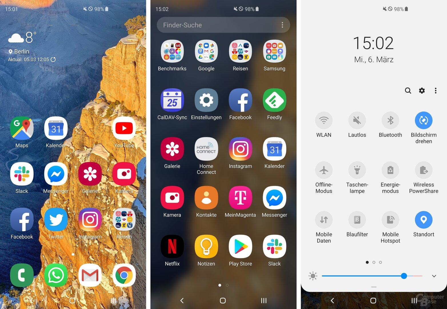 Samsung One UI auf dem Galaxy S10+