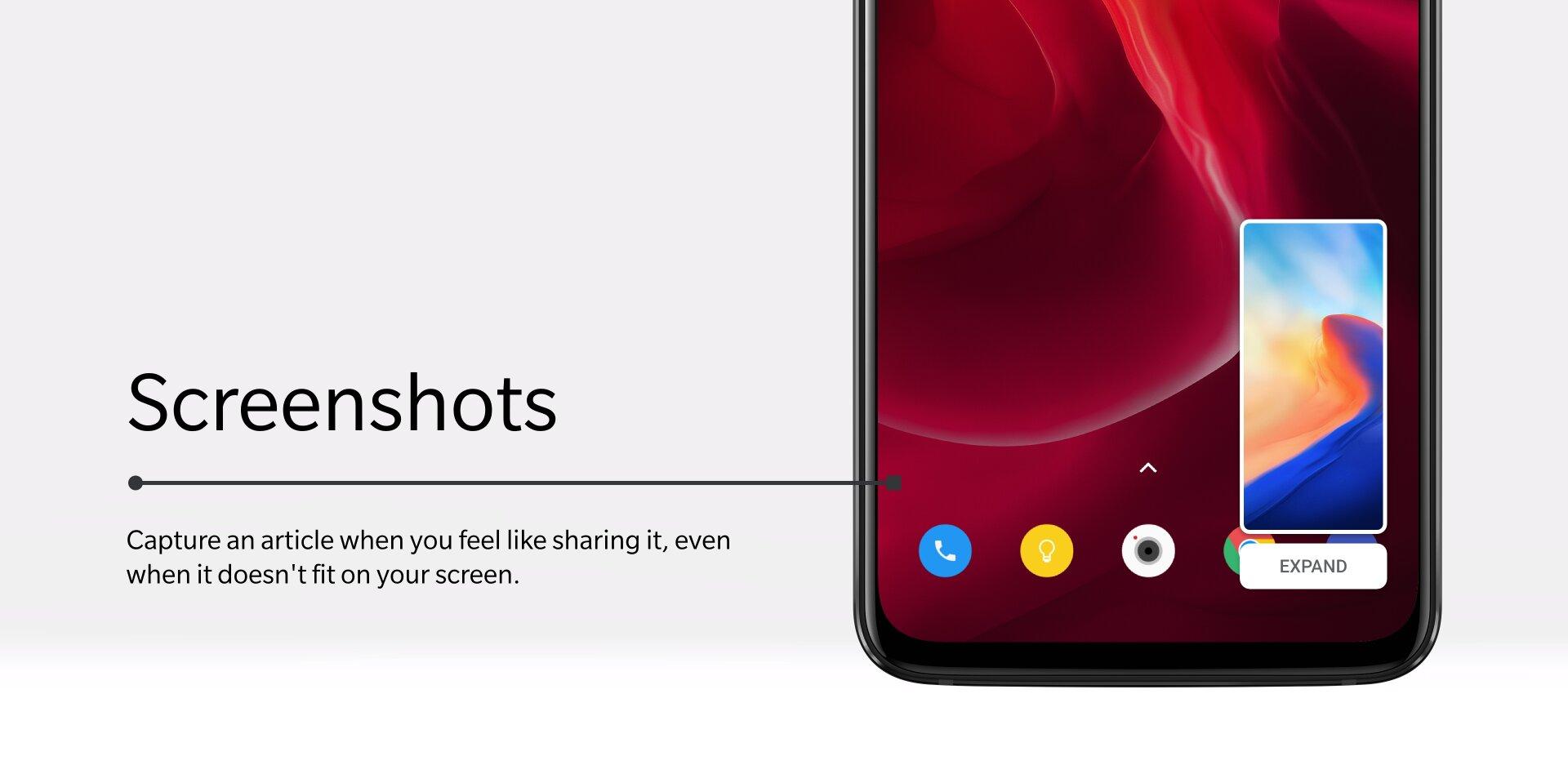 Neu gestaltete Screenshot-Funktion