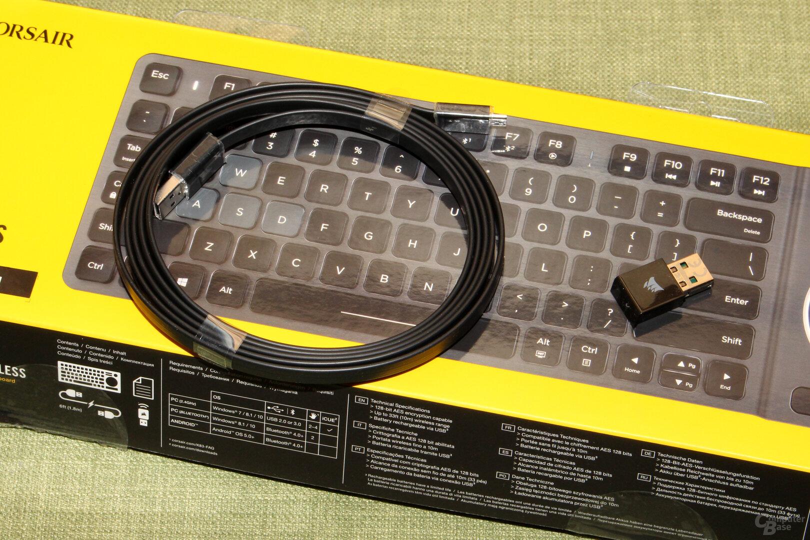 Zubehör: USB-Label, Funkadapter
