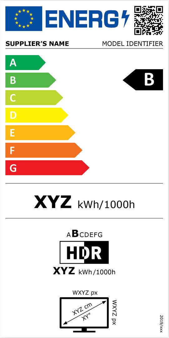 Energieeffizienzkennzeichnung für Bildschirme
