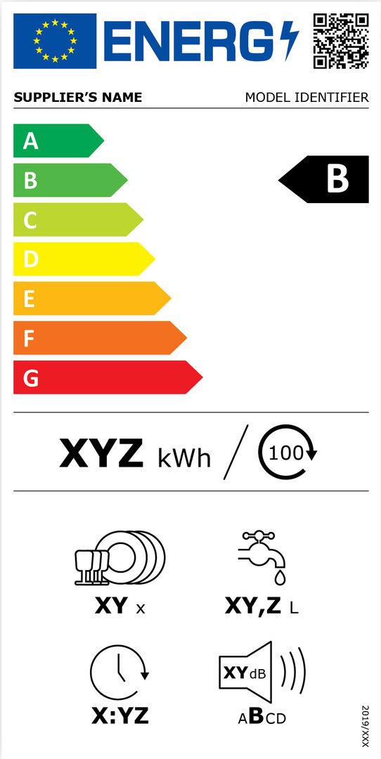 Energieeffizienzkennzeichnung für Geschirrspüler