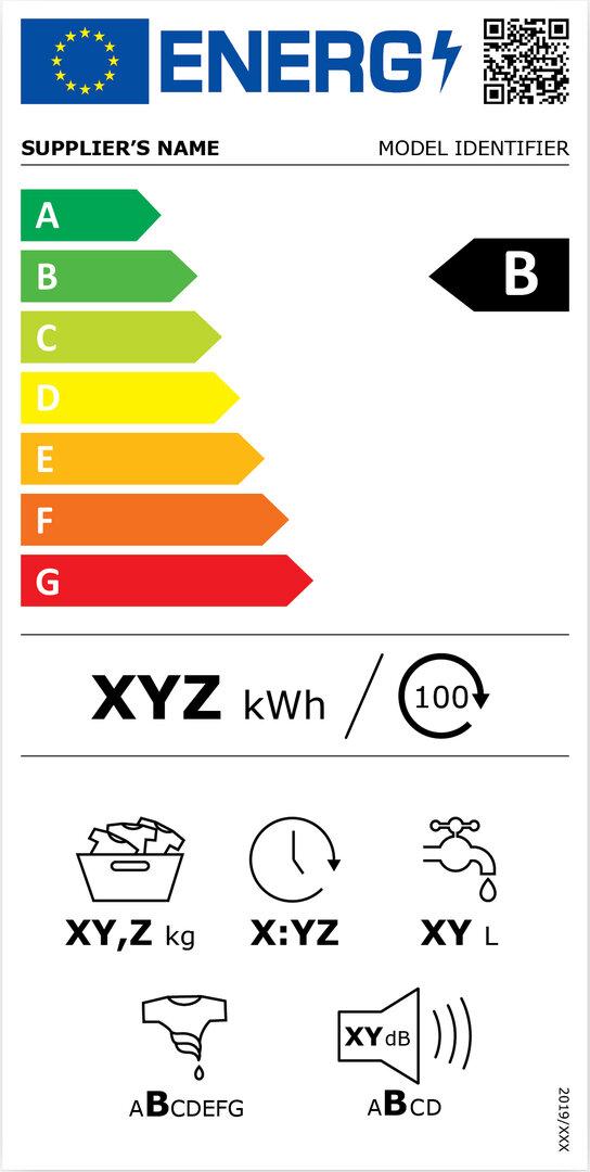Energieeffizienzkennzeichnung für Waschmaschinen