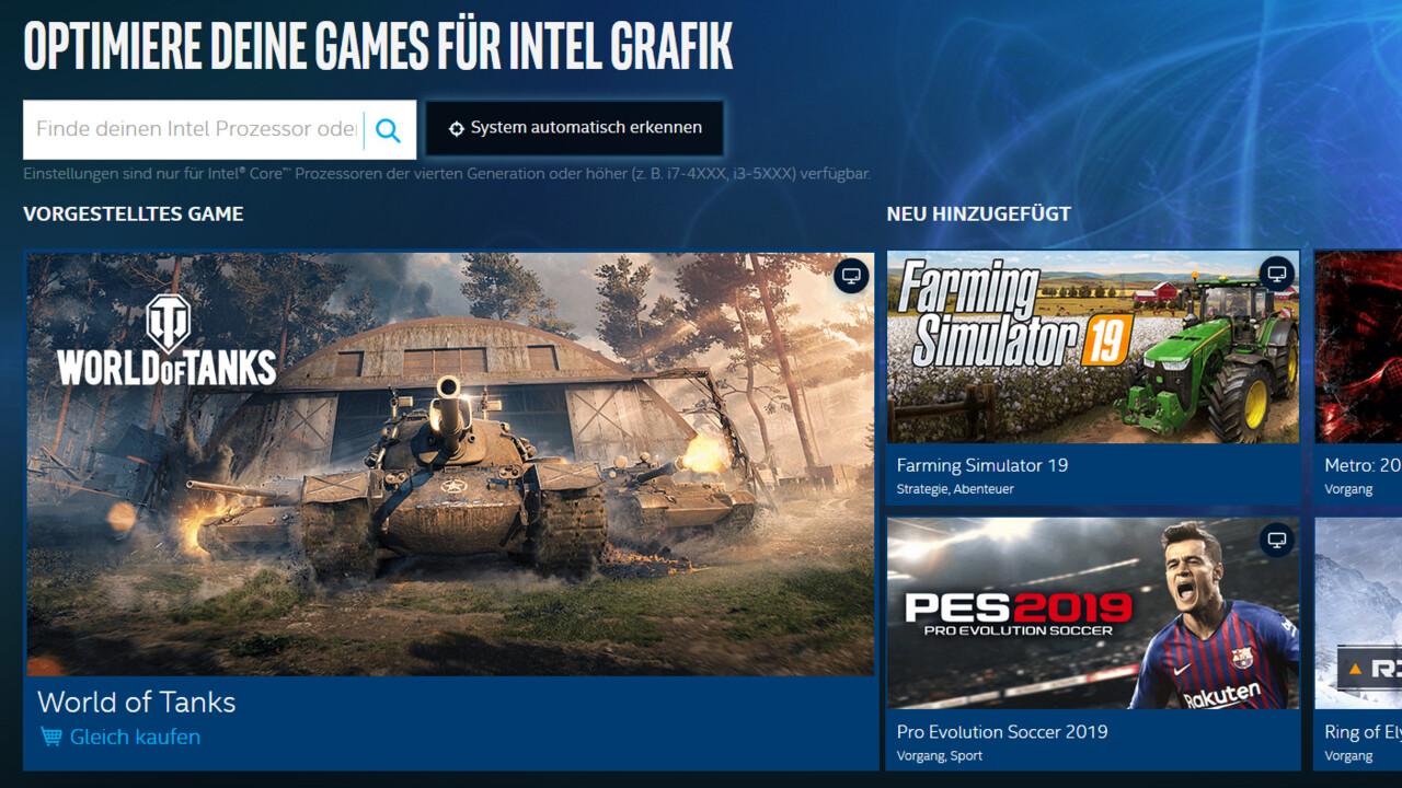 Intel-Grafiklösungen: Ein neues Treiberpanel für alle Intel-Grafikkarten