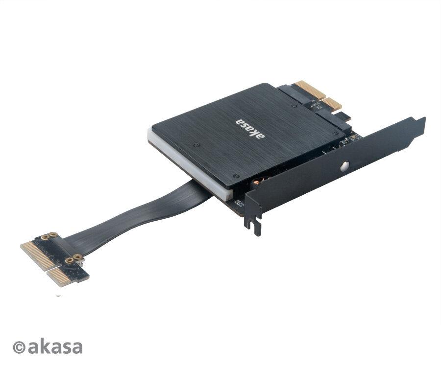 M.2-Adapter AK-PCCM2P-04 mit zweimal PCIe 3.0 x4