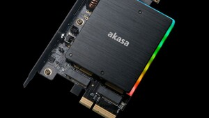Akasa: M.2-PCIe-Adapter für zwei SSDs mit Kühler und RGB