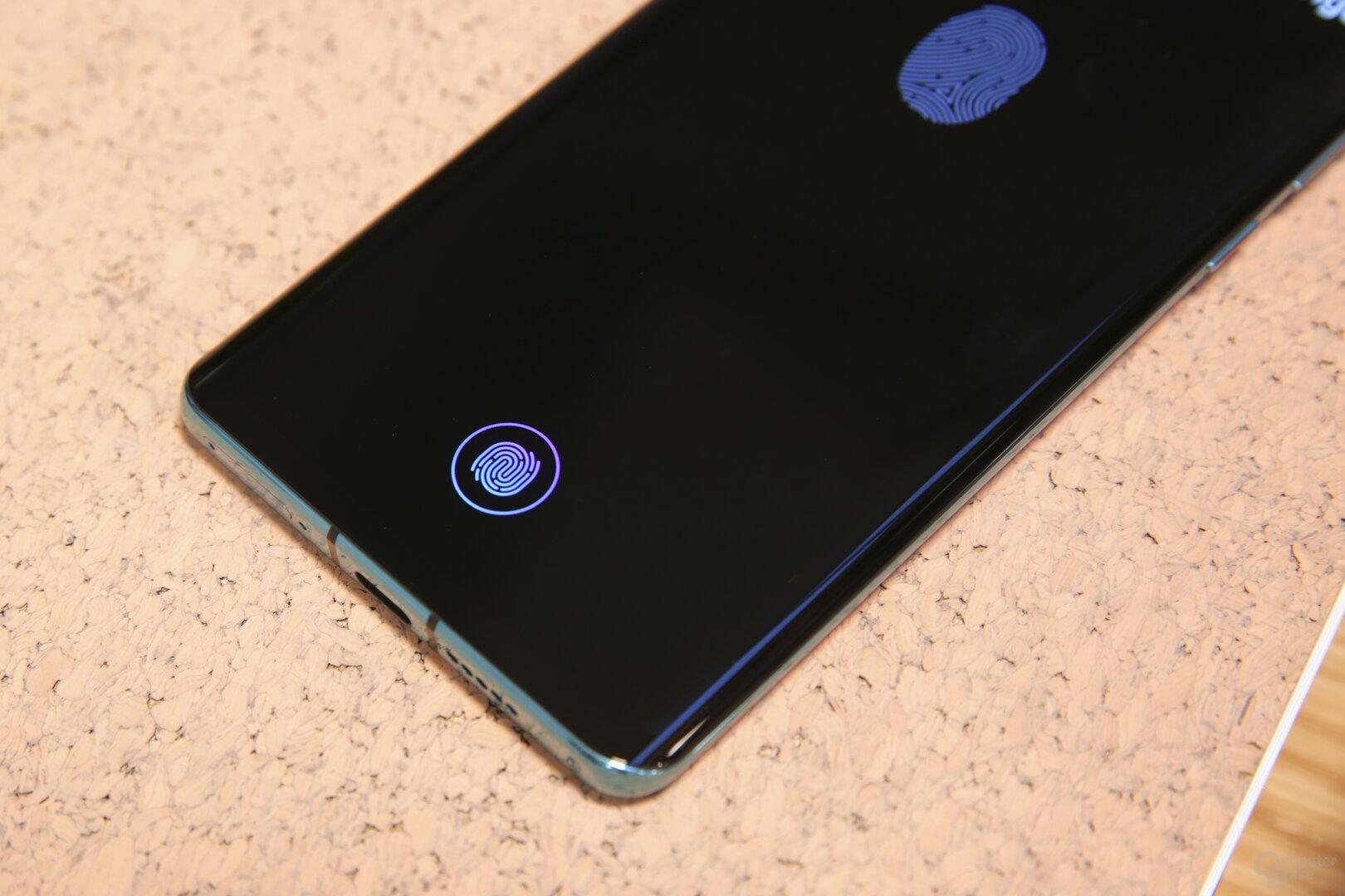 Schnellerer Display-Fingerabdrucksensor der zweiten Generation