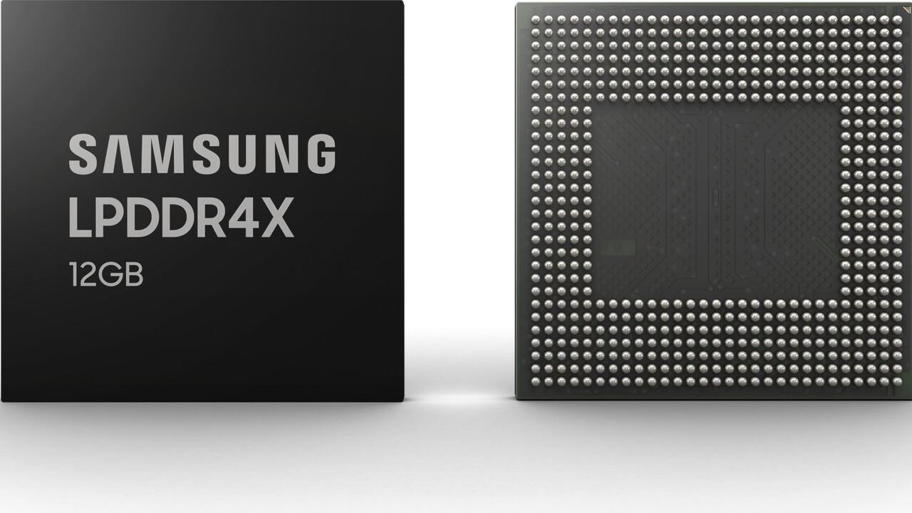 Samsung LPDDR4X: Chips für 12 GB RAM im Smartphone gehen in Serie