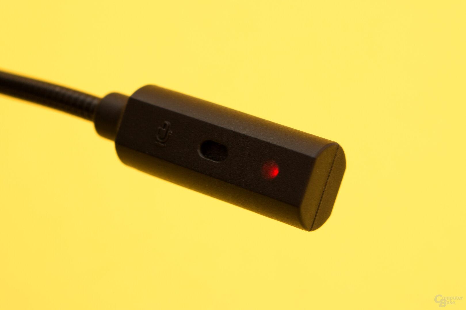 Mdas Mikrofon des Creative SXFI Air C zeigt an wenn es deaktiviert ist