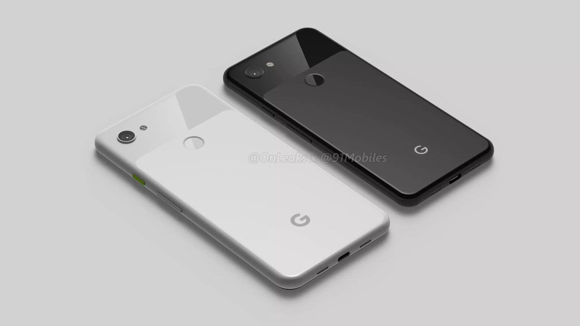 Rendering des Google Pixel 3a und 3a XL