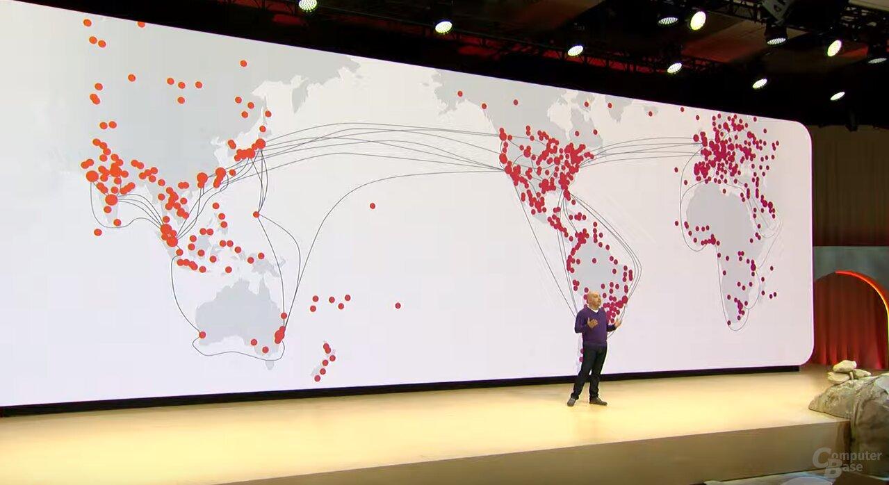 Googles globales Netzwerk als Basis für Stadia