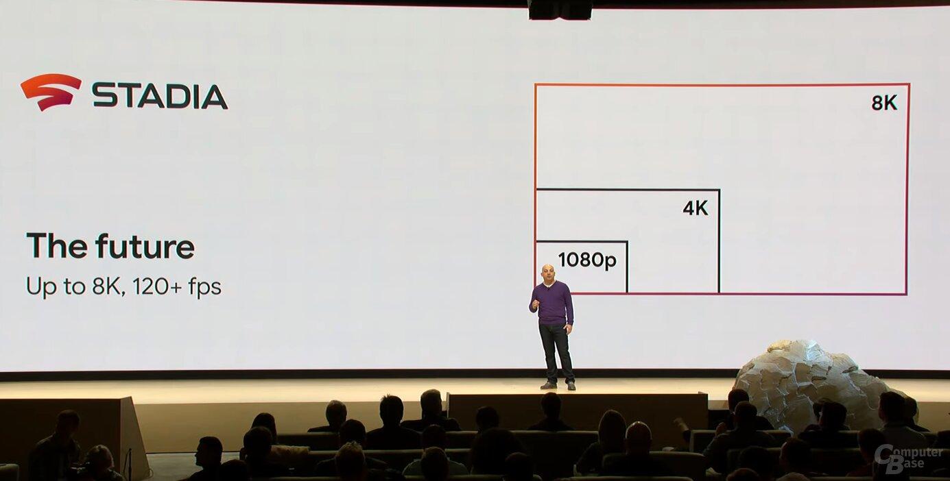 In Zukunft soll Stadia mit 8K und 120 FPS streamen