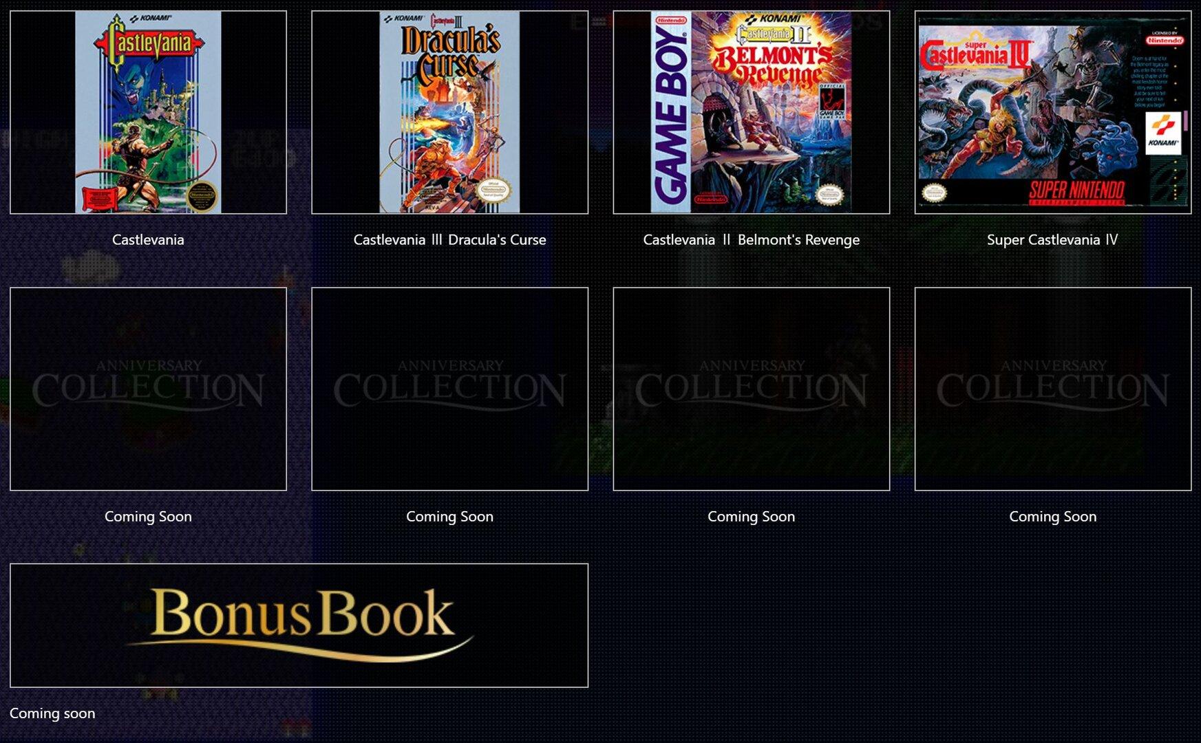 Inhalt der Castlevania Collection