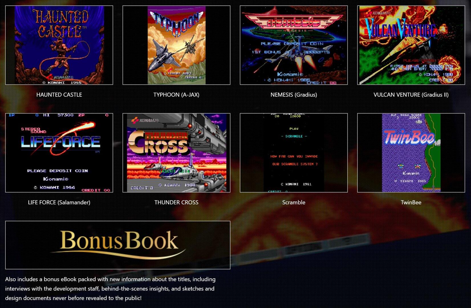 Inhalt der Classics Arcade Collection