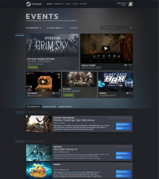 """Neues Feature """"Events"""""""