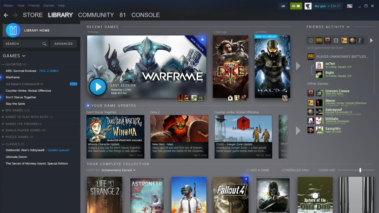 Steam: Überarbeitete Bibliothek und neue Event-Kategorie