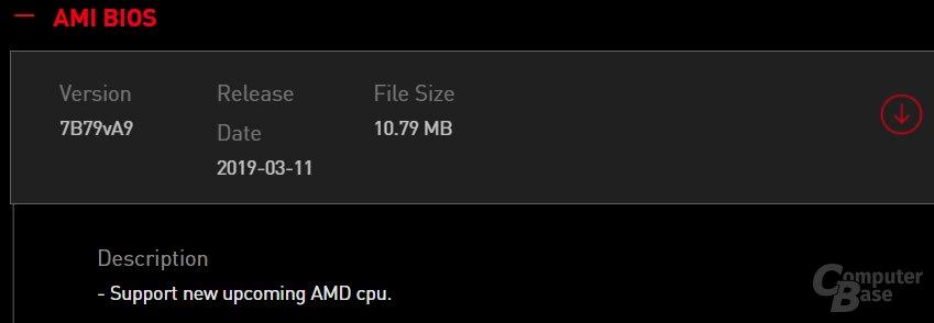 Neues AMD-BIOS bei MSI