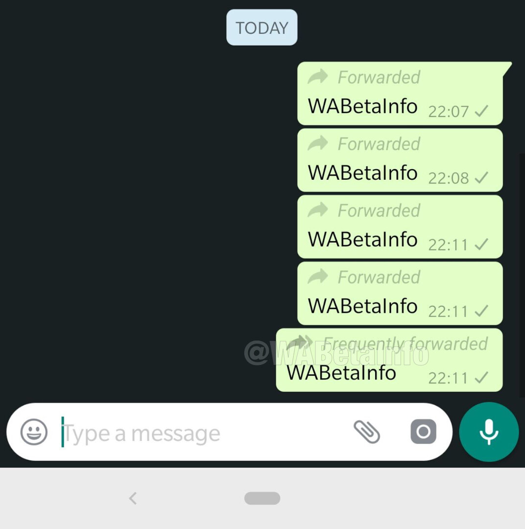 Frequently Forwarded in WhatsApp 2.19.80
