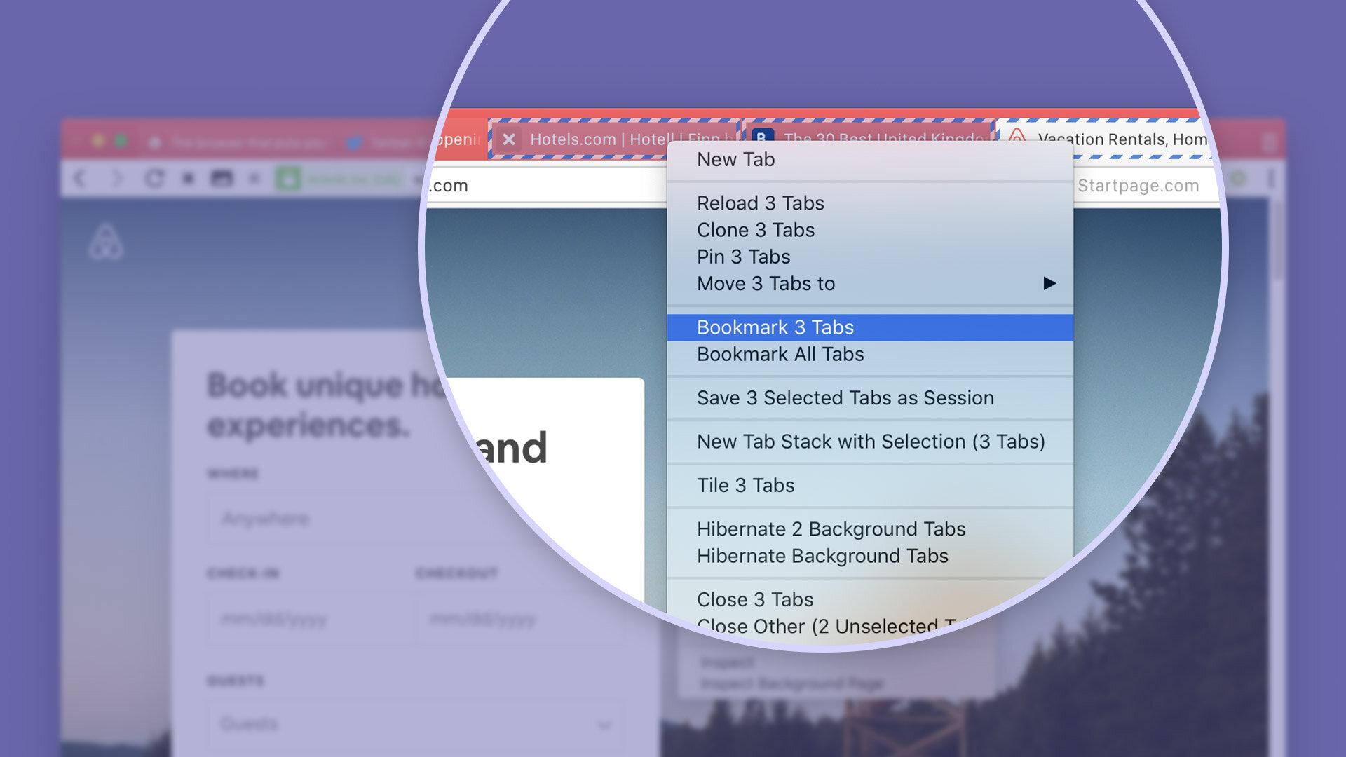Tabs lassen sich unter Vivaldi 2.4 nun auch als Lesezeichen speichern