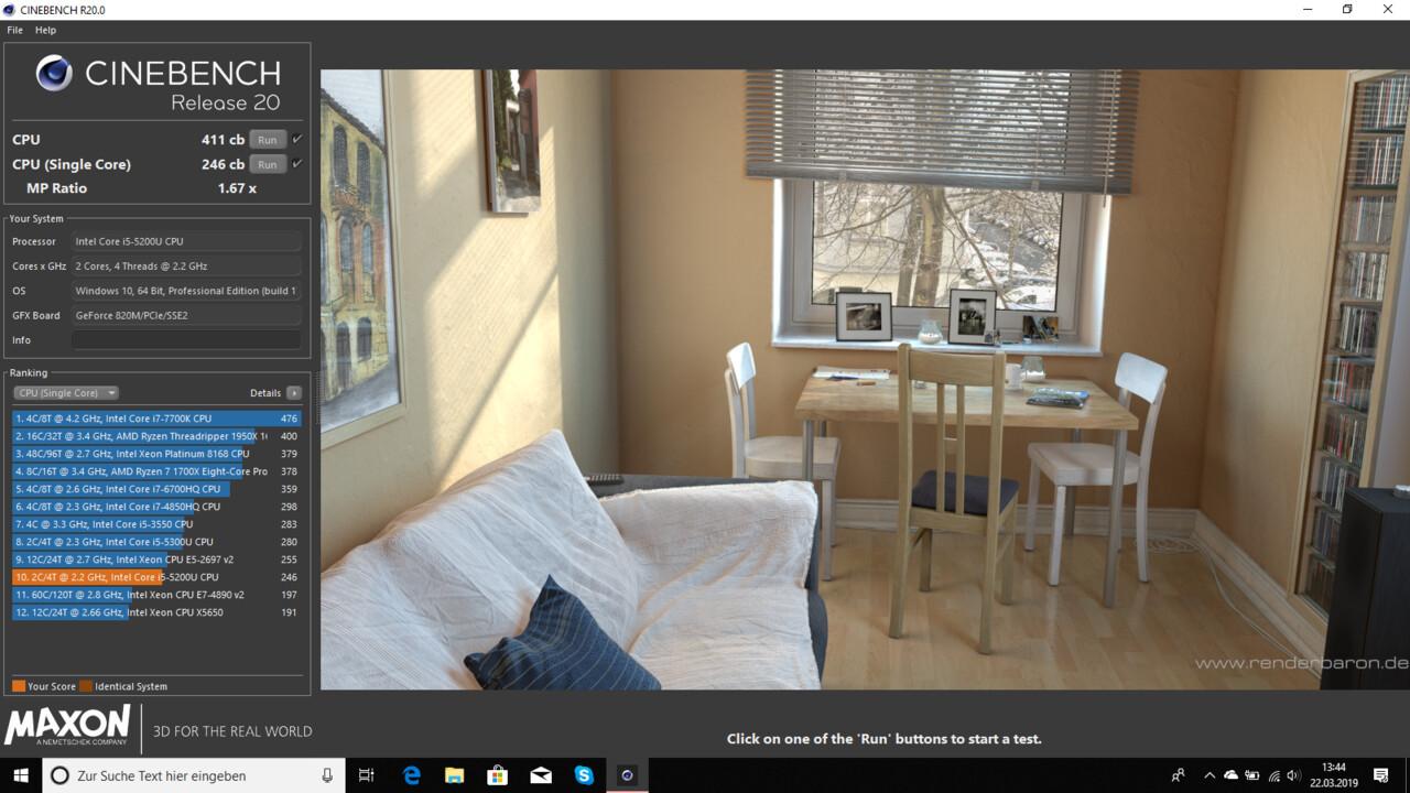Benchmark: Cinebench R20 jetzt auch als ZIP (für Windows 7) verfügbar