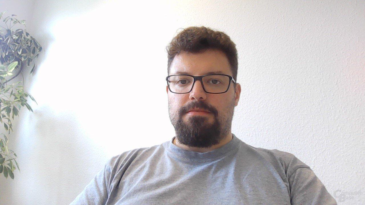 Beispielaufnahme mit der Webcam des XPS 13 (9380)