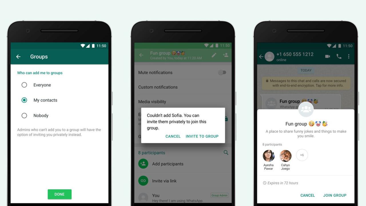 WhatsApp: Einladungssystem für Gruppen statt ungefragtes Hinzufügen