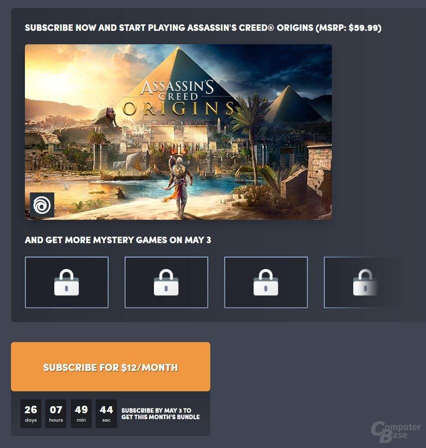 Im April ist AC: Origins eines von sechs Bundle-Spielen