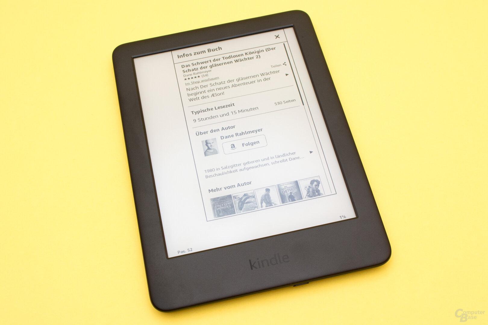 Auf Wunsch gibt es Informationen zum Inhalt eines Buches