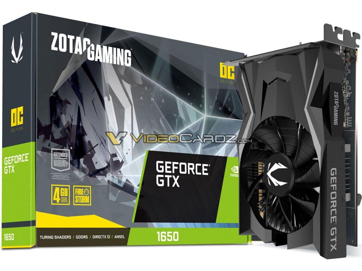 Mutmaßliche GeForce GTX 1650 von Zotac