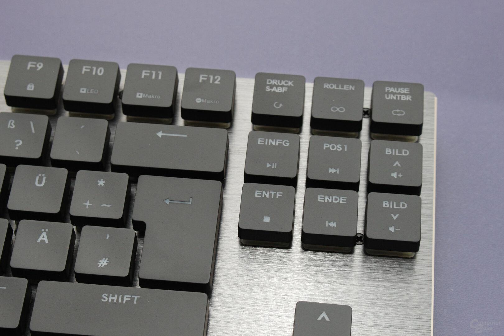 Bekannt: Die Anordnung der Medien-Hotkeys hat sich schon bei anderen Tastaturen bewährt
