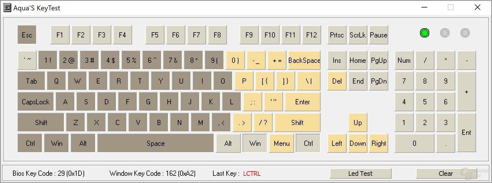 """SK621: N-KRO 2-Key-Rollover (""""KRO"""", Anzahl mindestens gleichzeitig auslösbarer Tasten)"""