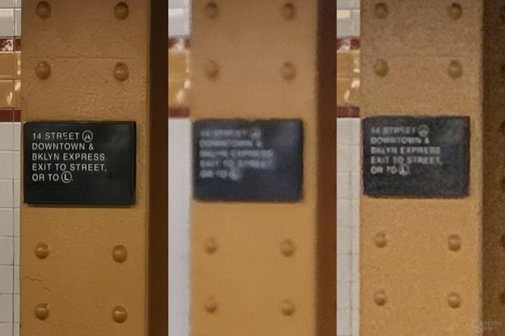 P30 Pro, Galaxy S10+, iPhone Xs Max (10x) (Crop) (v.l.n.r.)