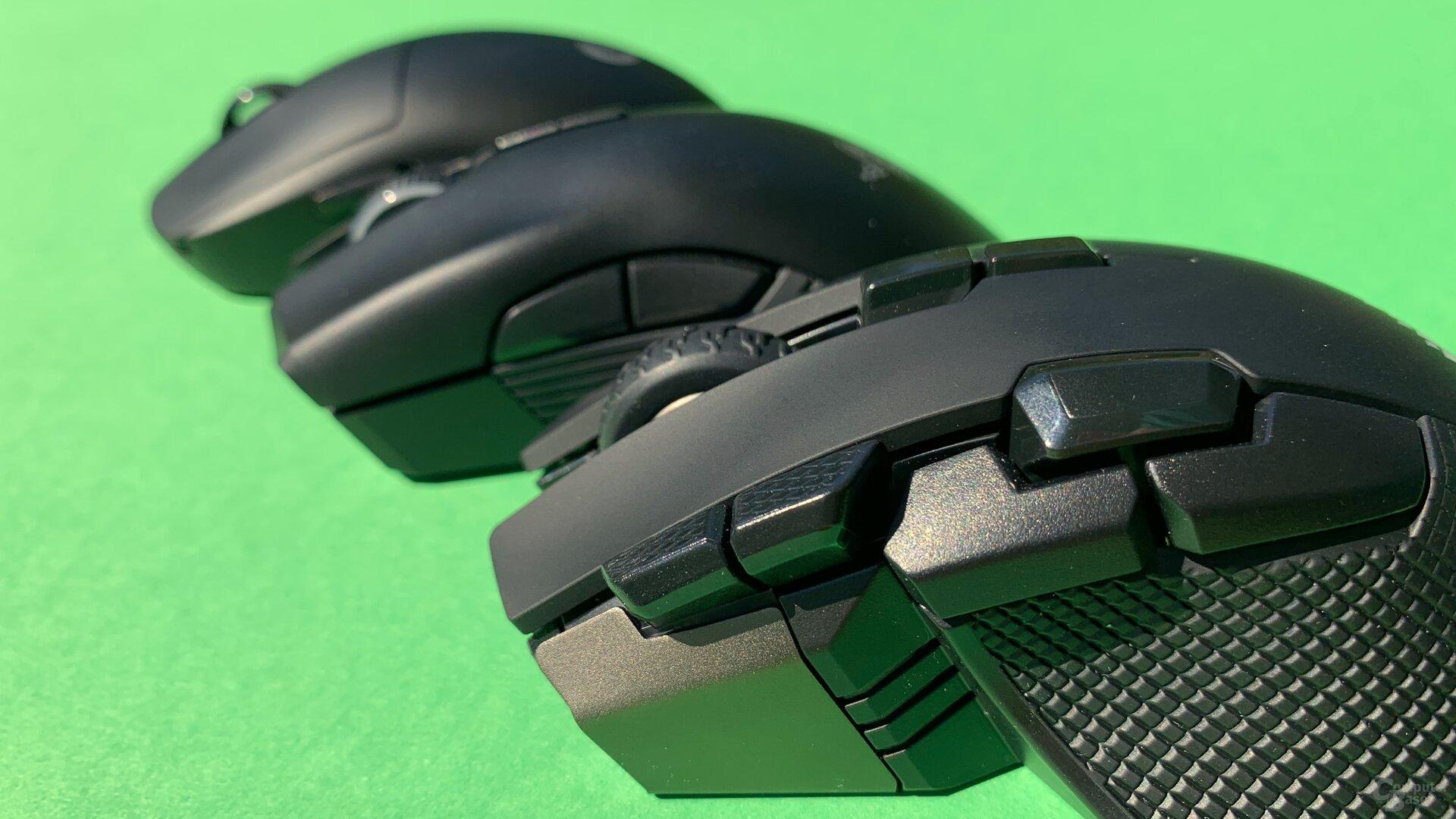 Logitech G Pro Wireless, Razer Mamba Wireless und Corsair Ironclaw RGB Wireless