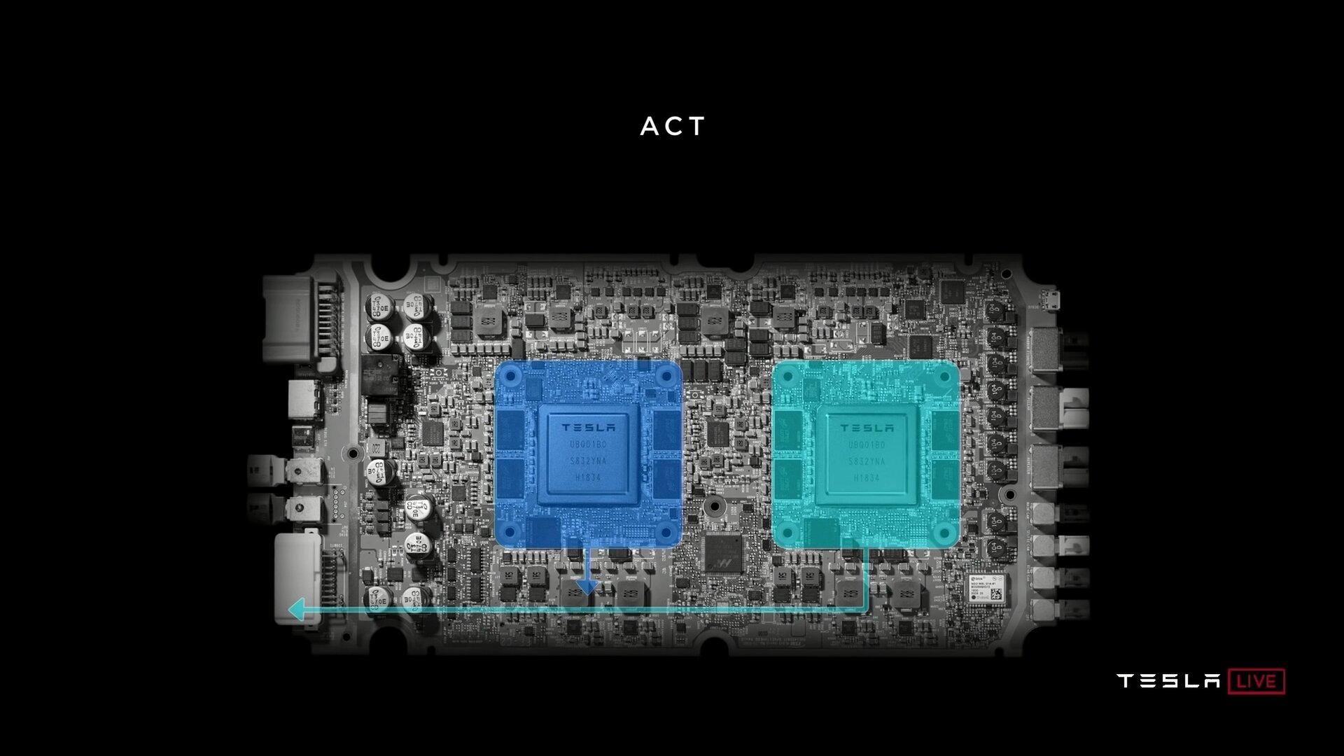 Platine mit zwei FSD-Chips