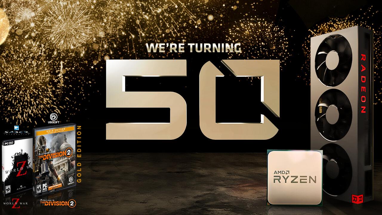 50 Jahre AMD: RX 590 als limitierte Sonderedition + Bundles