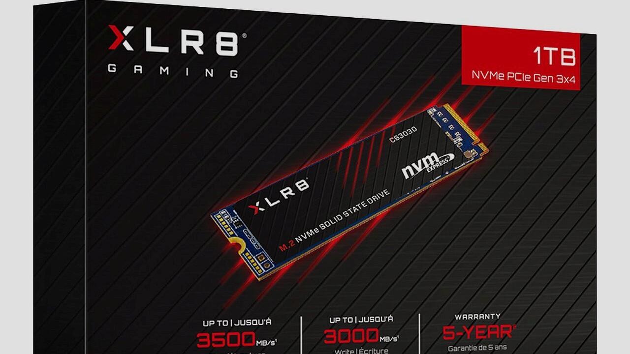 XLR8 CS3030 SSD: PNY erhöht auf 3.500 MB/s im M.2-Format