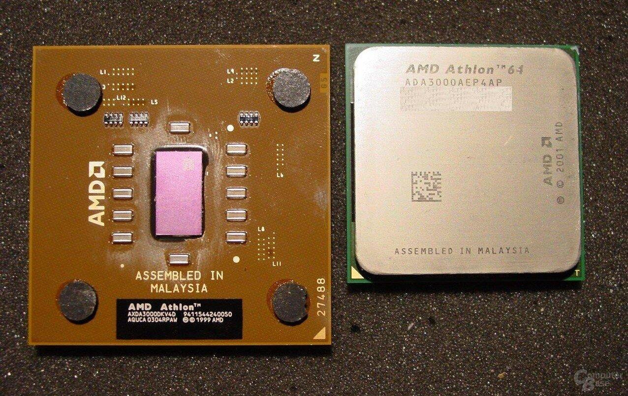Athlon XP 3000+ und Athlon 64 3000+: Zwei Prozessoren mit erfolgreichen Architekturen