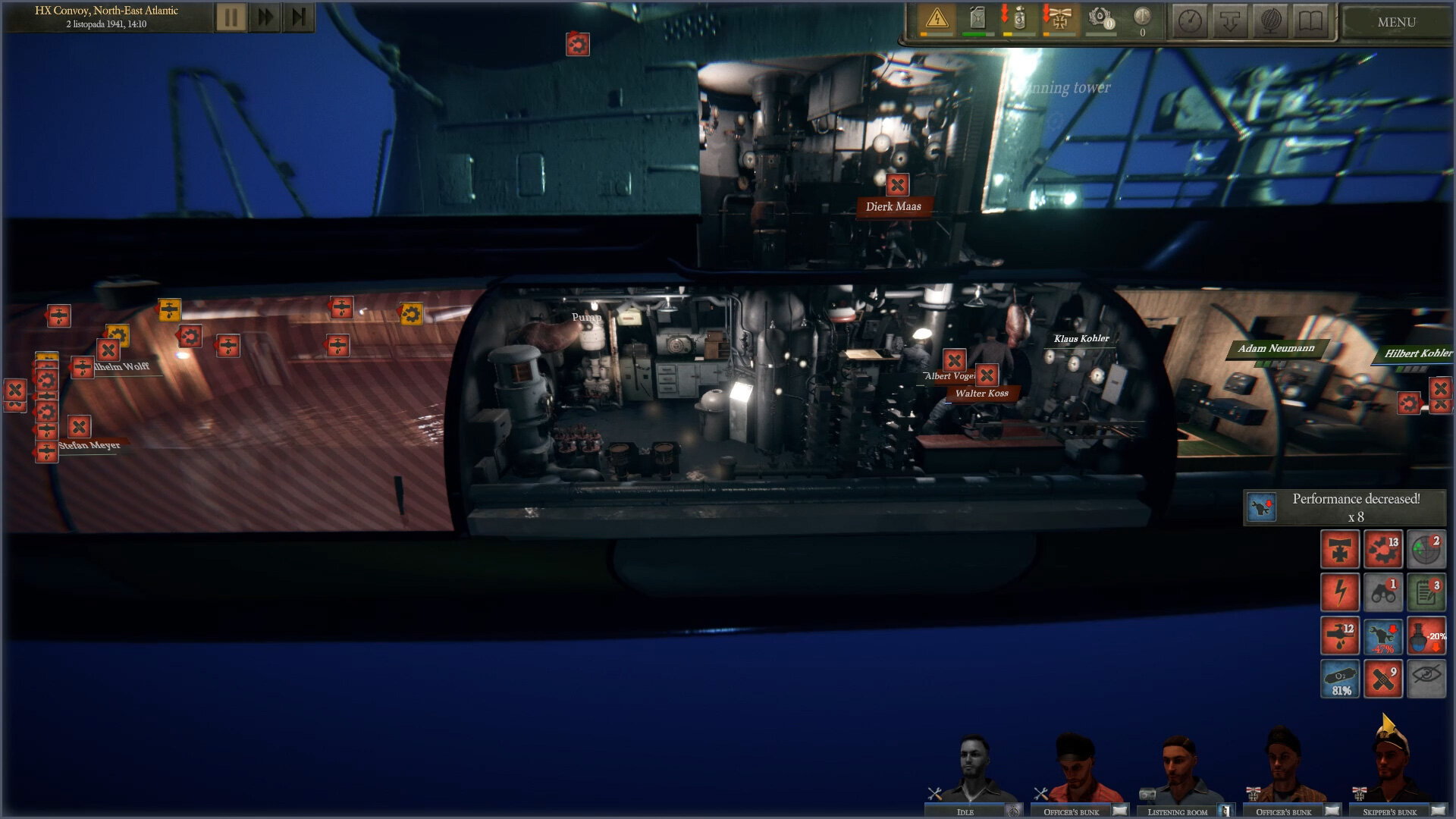 Screenshots aus dem U-Boot-Survival-Simulator UBOAT