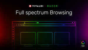 Browser: Vivaldi 2.5 steuert RGB-LEDs über Razer Chroma