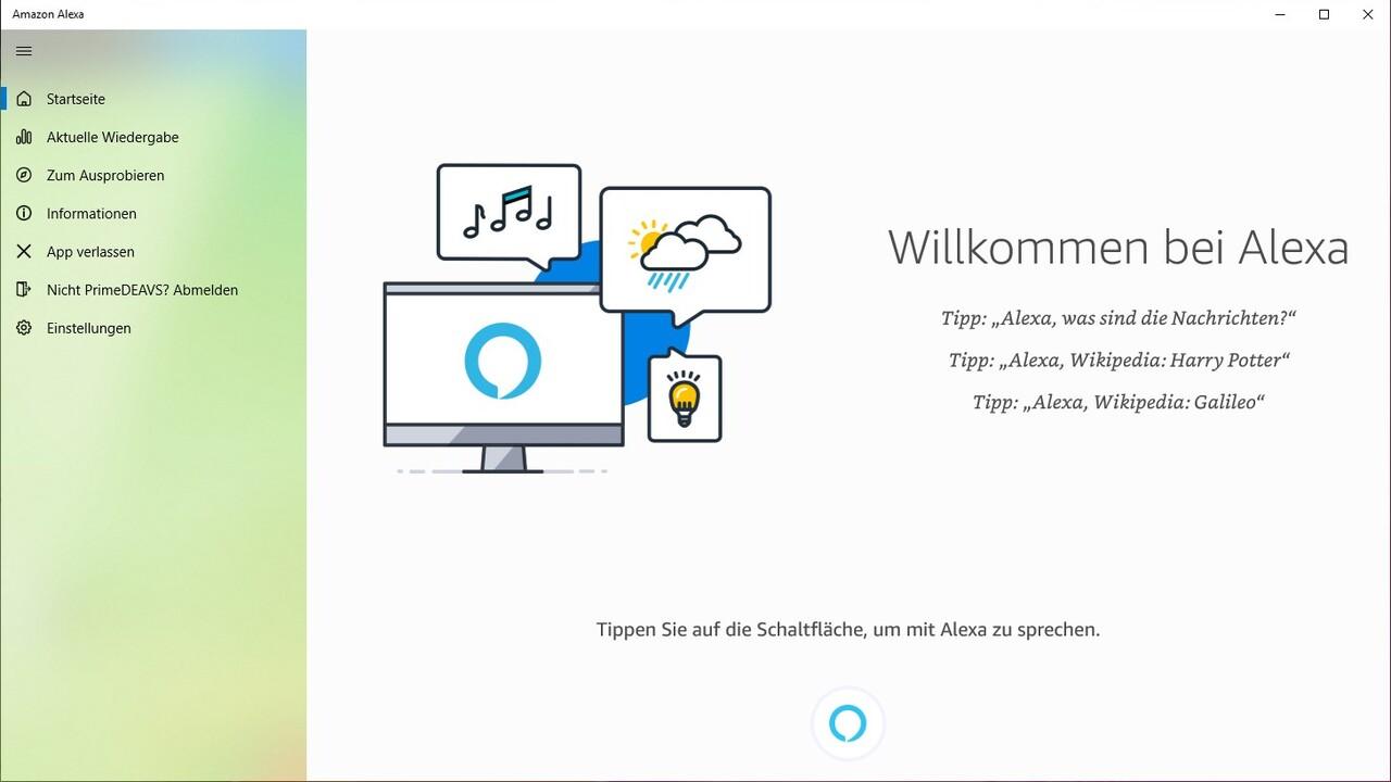 Windows 10: Alexa lässt sich nun ohne Klick per Sprache starten