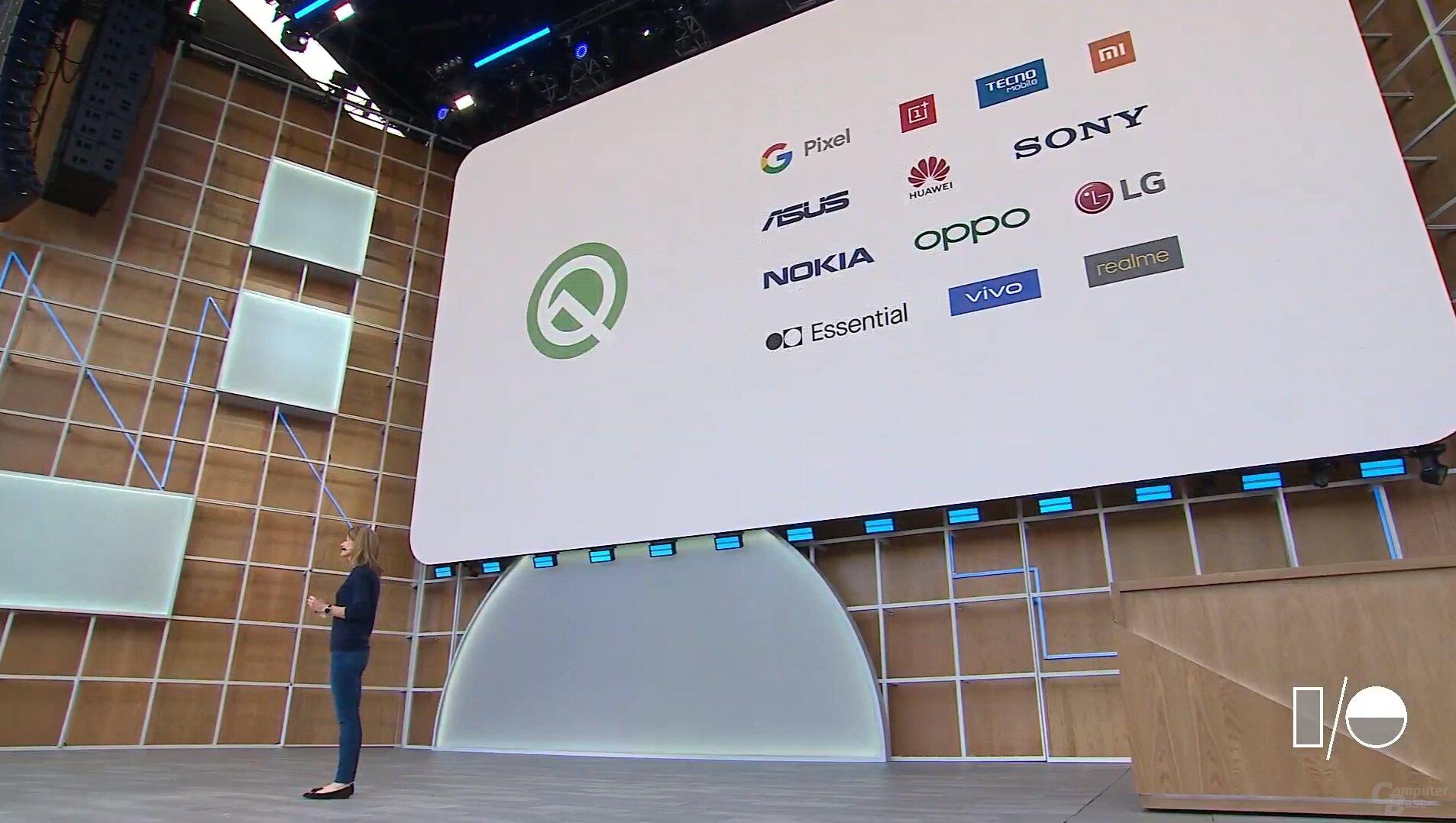 Android Q Beta 3 für 21 Geräte