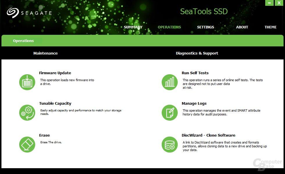 SeaTools 4Die Seagate SeaTools im Überblick