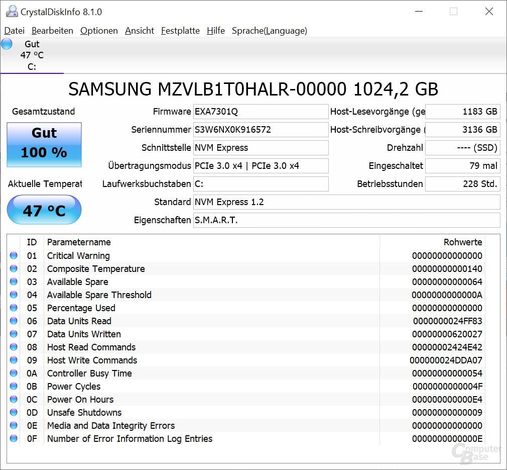 Samsung PM981 NVMe mit 1 TB
