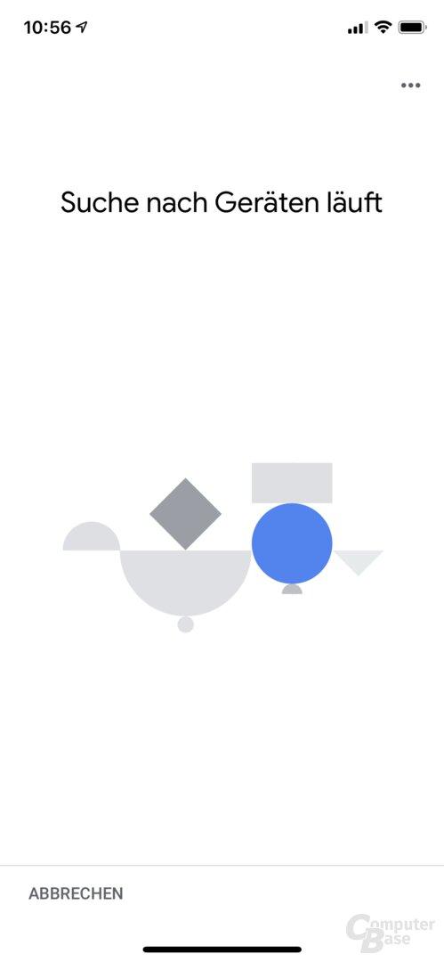 Einrichtung des Lenovo Smart Display in der Google Home App