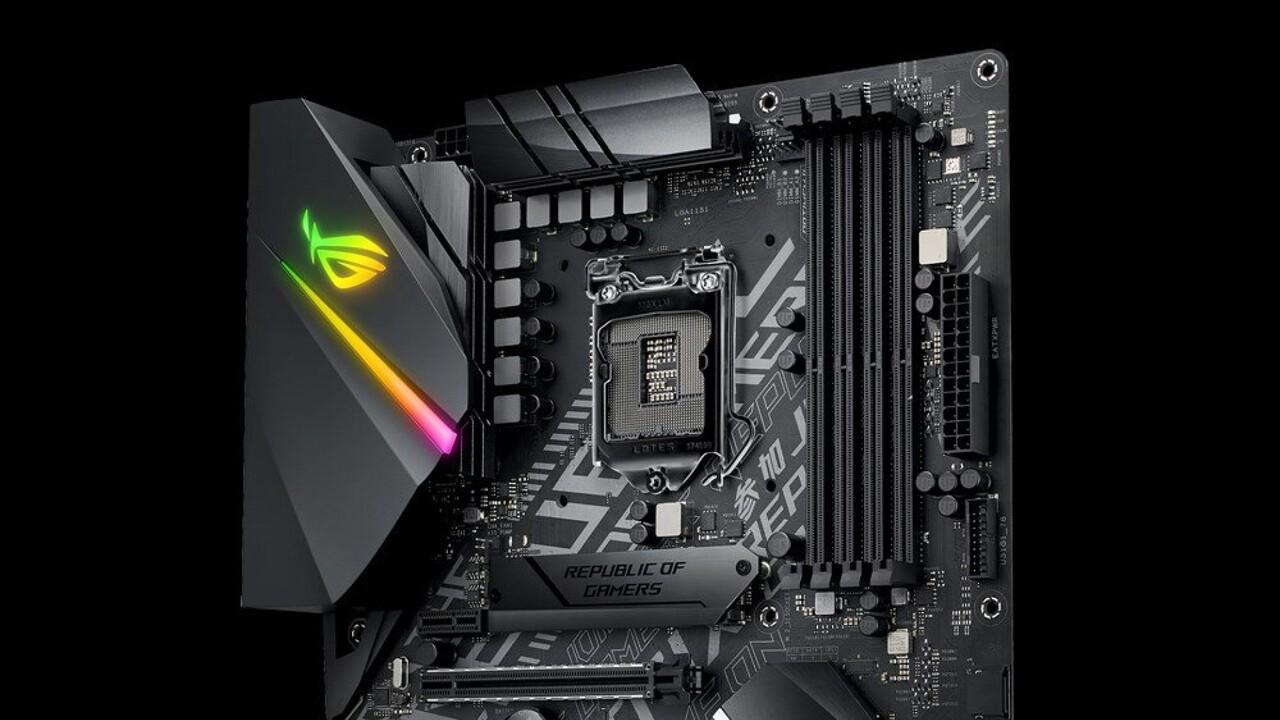 Asus ROG Strix B365-F Gaming: Wechsel auf B365-Chipsatz bringt dritten M.2-Slot
