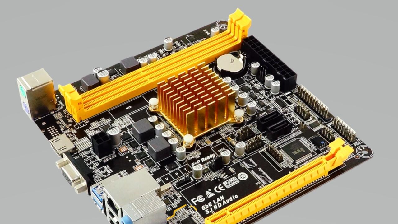 Biostar A68N-2100E: Kabini-APU wird auf Mini-ITX-Platine passiv gekühlt