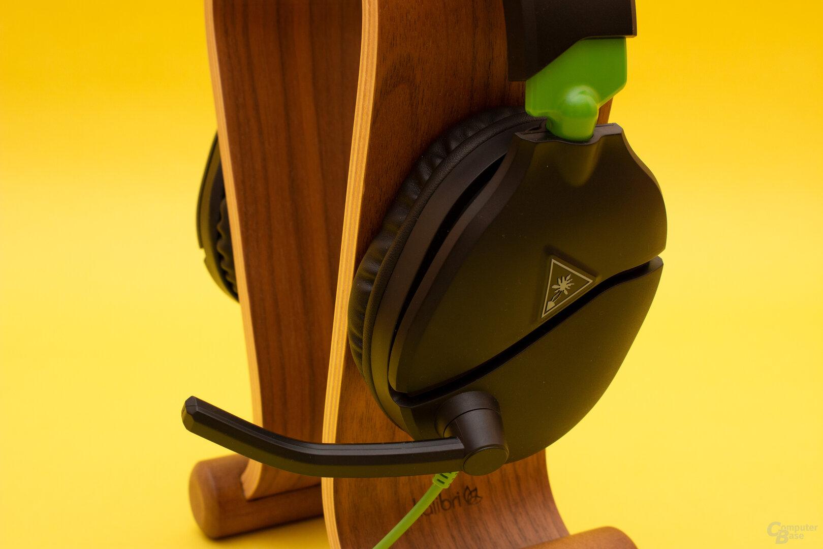 Das Mikrofon des Recon 70 fällt klein aus und nimmt die Stimme daher etwas verfälscht auf