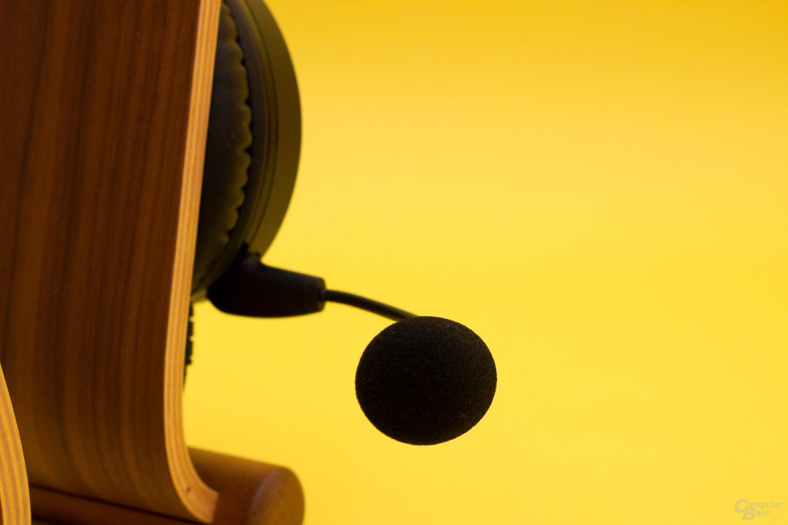 Das gute Mikrofon hat das LX 30 von seinem großen Bruder geerbt